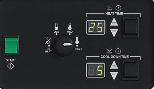 Cissell Dual Digital Dryer Timer
